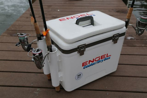 Engel 30qt Cooler/DryBox w/ Rod Holders