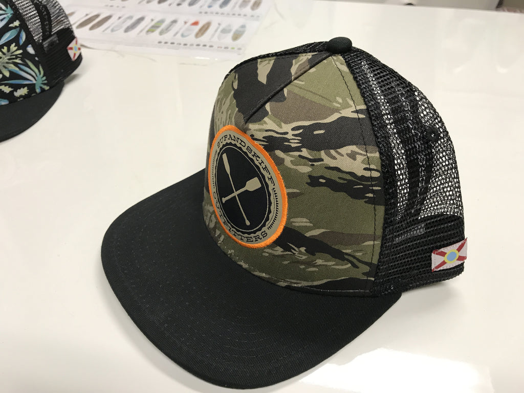SUP   Skiff Tiger Camo Flat Bill Hat – SUP   Skiff Outfitters a30441636f2