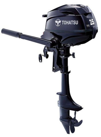"Tohatsu 2.5 HP MFS2.5BS Outboard Motor 15"" Shortshaft"