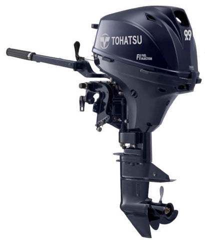"Tohatsu 9.9 HP MFS9.9ES Outboard Motor 15"" Shortshaft Fuel Injected 95lbs"