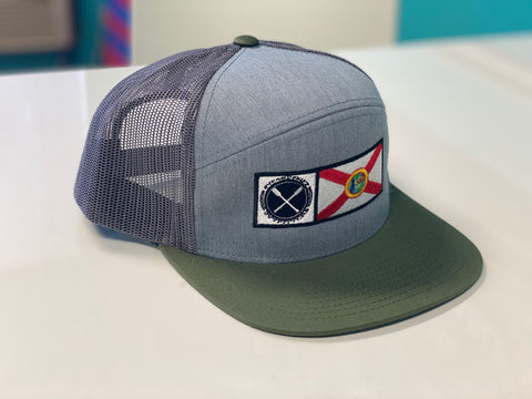 SUP & Skiff Outfitters FL Flag 6 Panel Arch Hat