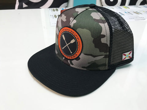 SUP & Skiff Army Camo Flat Bill Hat