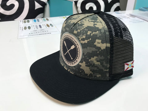 SUP & Skiff Digital Army Camo Flat Bill Hat