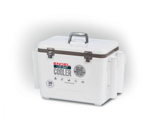 Engel 30qt Live Bait Dry Box/Cooler W/Rod Holders