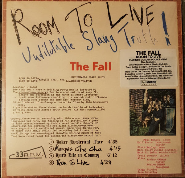 The Fall - Room To Live 2LP