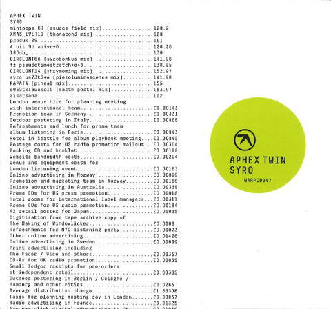 Aphex Twin - Syro 3LP