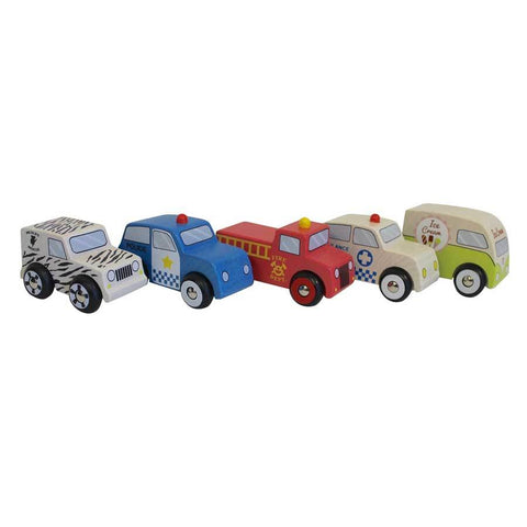 Discoveroo Emergency cars set of 5