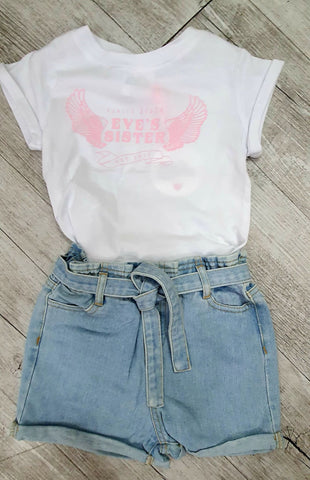 Eve's Sister Venice beach Tee - white size 3 and 4