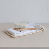 Lula love Natural Bristle Hair Brush with Washcloth