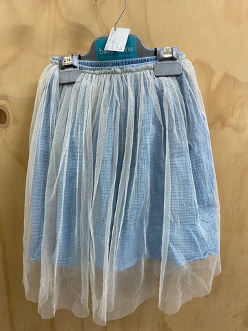 PRE-LOVED Rock Your Kid Tulle Overlay Skirt Blue Size 2