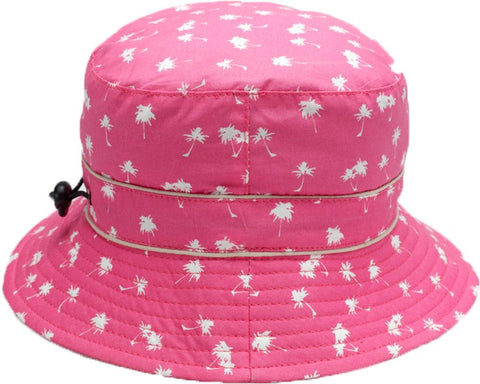 Banz Palm Tree Magenta bucket hat 6months -2 years