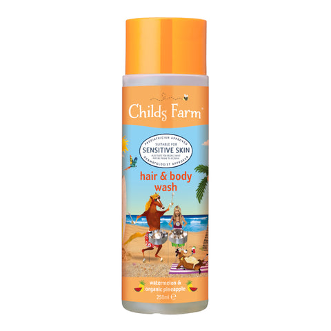 Childs Farm hair & body wash, watermelon & organic pineapple