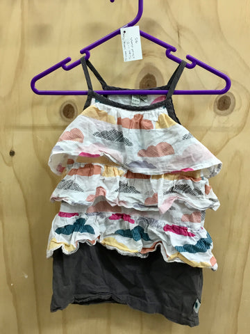 PRE-LOVED Three Little Trees Cloud Dress Size 1-2