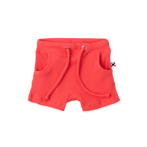 Minti baby Deluxe Rib Short coral