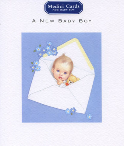 Greeting Card: A new baby boy