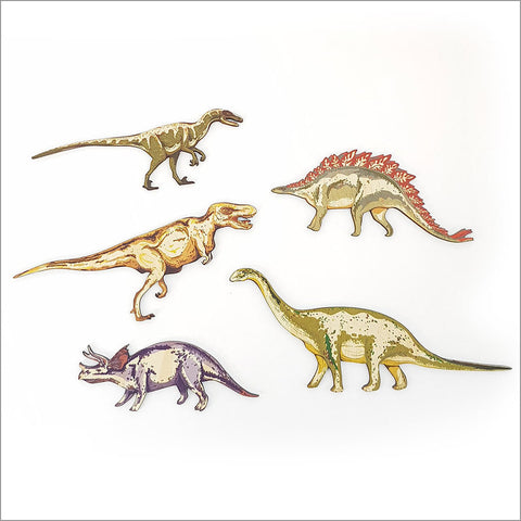 Crystal Ashley Pine wall art : Dinosaurs Set