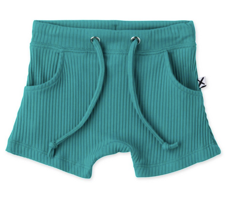 Minti baby Deluxe Rib shorts Electric Green