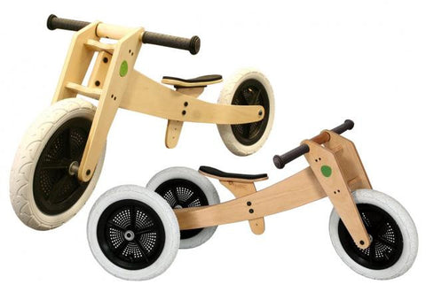 Wishbone 3 in 1 wooden bike