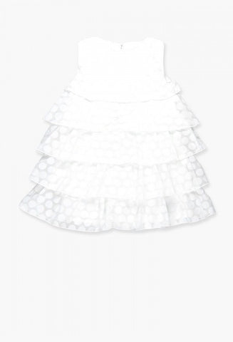 Boboli Chiffon Dress- white