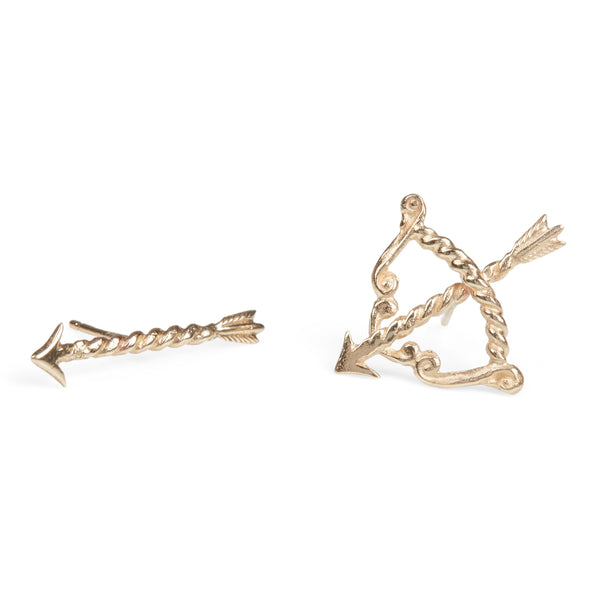 Bow and Arrow Earrings (Pair)