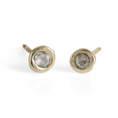 Luxe Petites Tiny Rose-Cut Diamond Stud Earrings