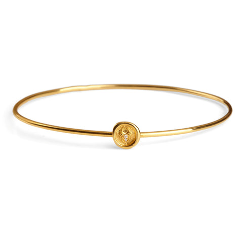 Petites 9ct Symbol Wax Seal Bangle