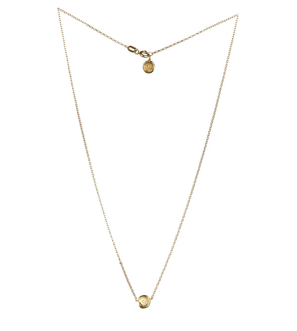 Petites Star-Set Diamond Wax Seal Necklace