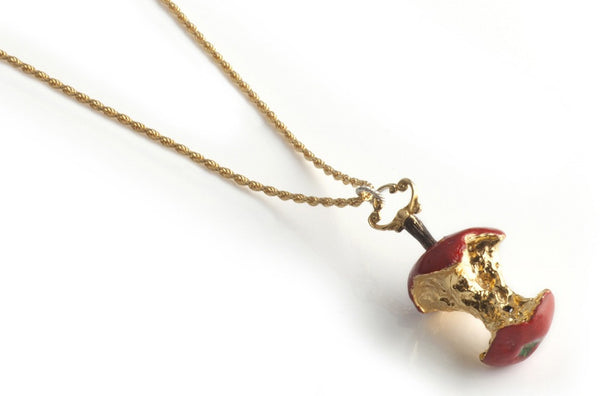 Red Relished Apple Necklace
