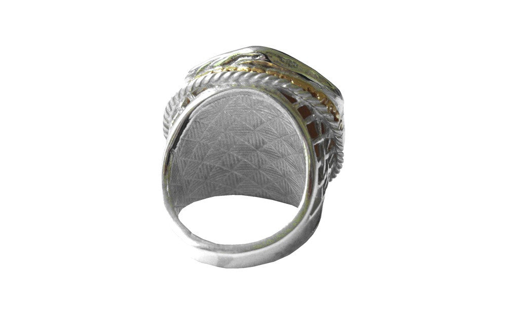 Moon Swoon Signet Ring with Diamonds