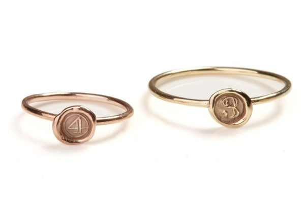 Petites Personalised Stacking Rings