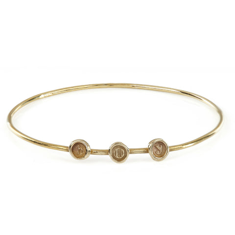 Petites 9ct Personalised (a-z/0-9) Multi-Seal Bangle