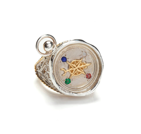 L.O.V.E Compass Seal Signet Ring