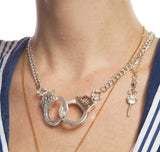 Functioning Handcuff Necklace
