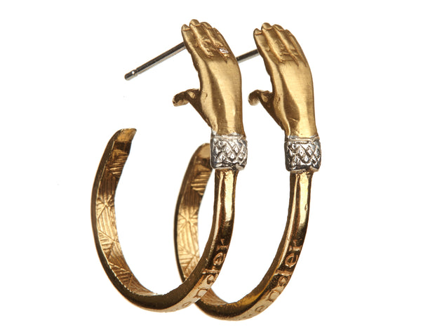 Hand Hoop Earrings (Pair)