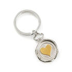 Heart Wax Seal Key Ring / Bag Charm