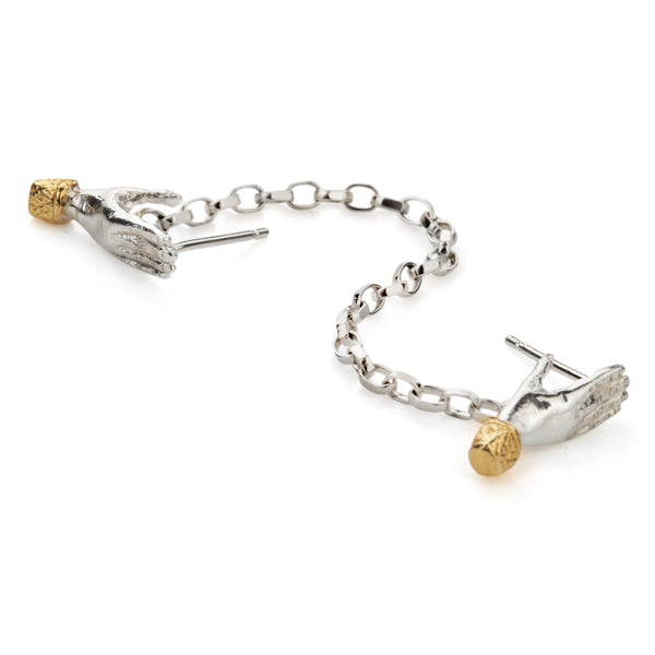 Holding Hands Chain Earring (Single)