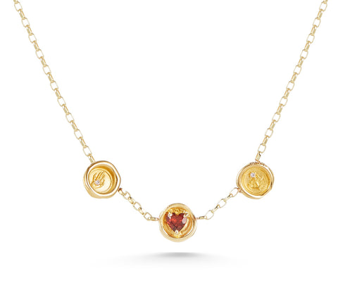 Petites Faith-Hope-Charity Triple Wax Seal Necklace