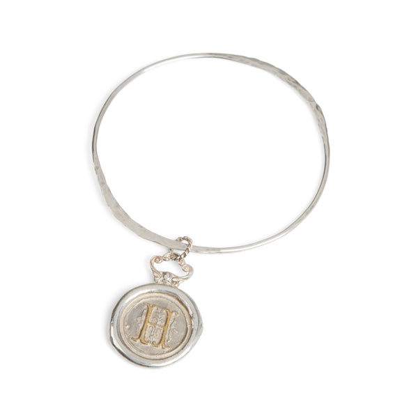 Large Personalised Wax Seal Bangle