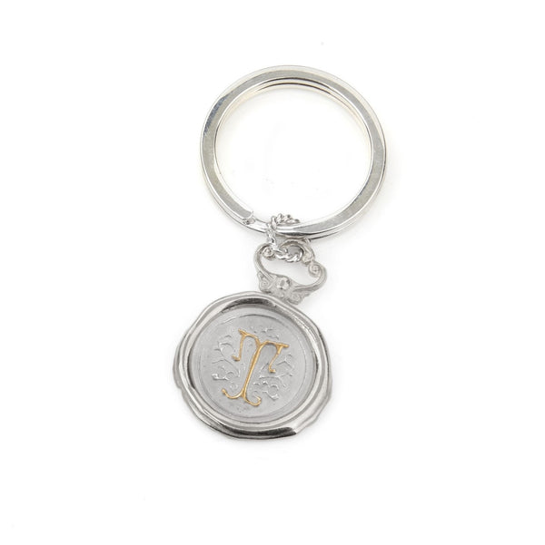 Large Personalised Wax Seal Key Ring / Bag Charm