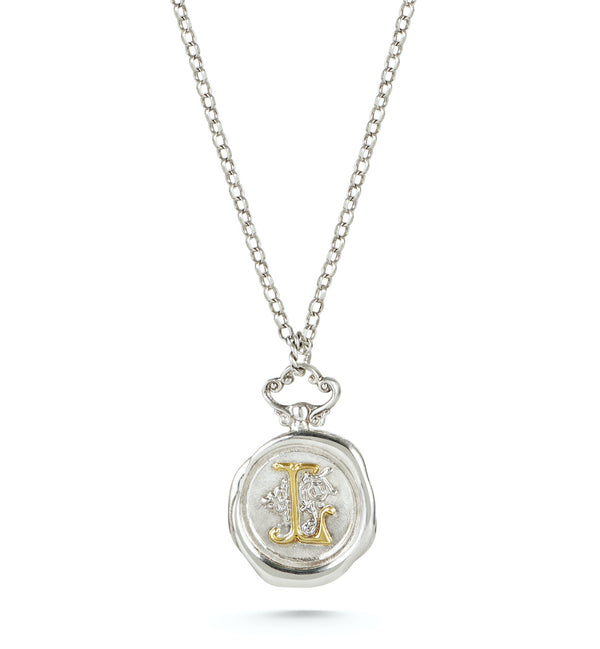 Large Personalised Wax Seal Necklace
