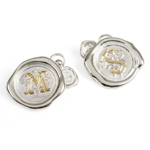 Large Personalised Wax Seal Cufflinks