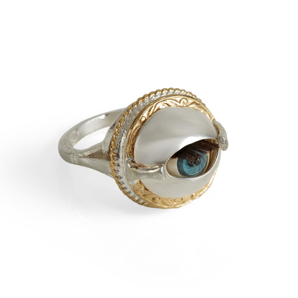 Mini Winking Dolly Eye Ring