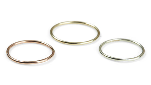 Petites 9ct Plain Stacking Ring