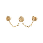 Ultra Petites Wax Seal Triple Studs & Chain Earring
