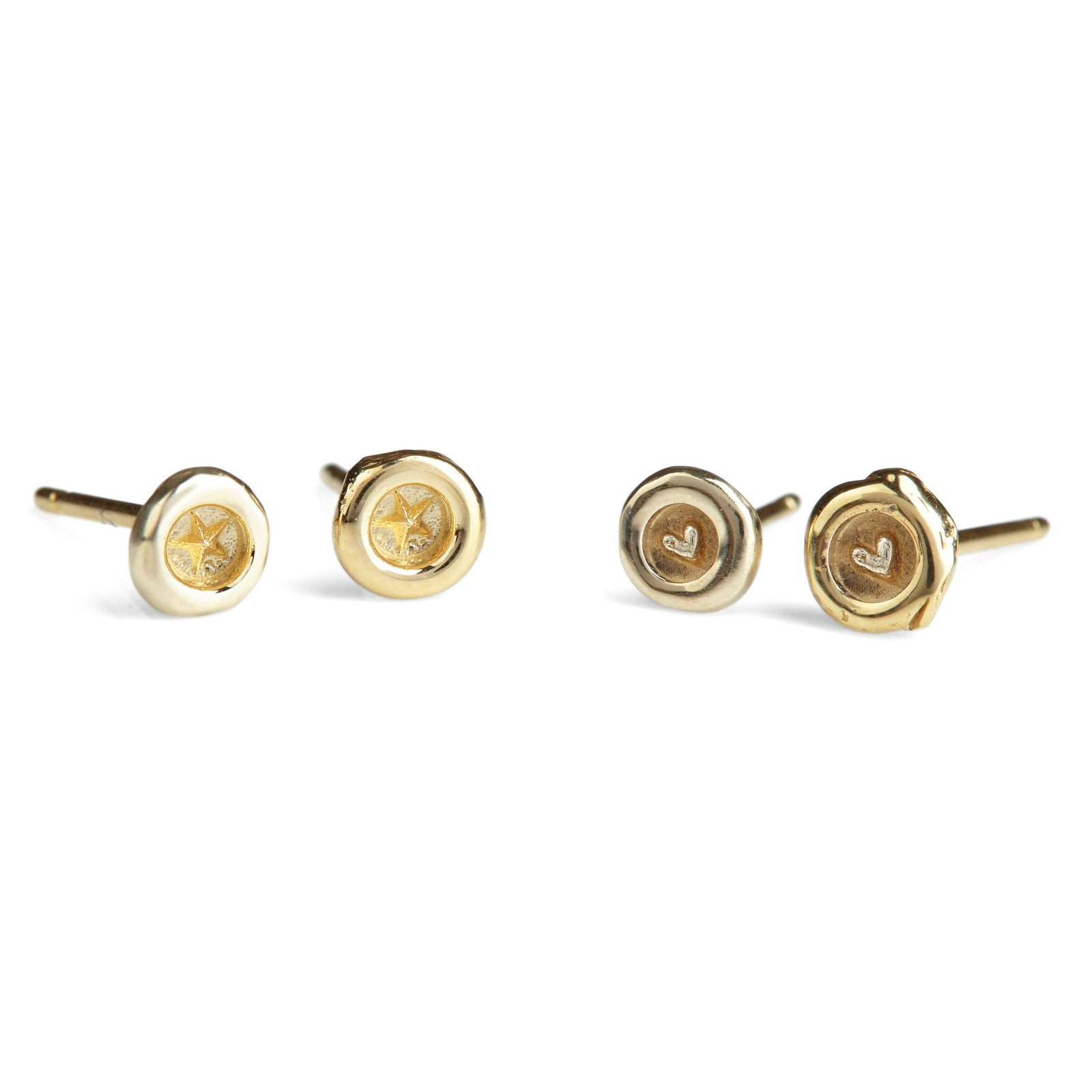 Ultra Petites Wax Seal Stud Earrings (Pair)