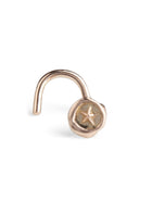 Jessica de Lotz JdL Jewellery New Teeny Weeny Petites 9ct Gold Nose Studs with Heart and Stars Teeny Weeny Star Nose Stud Rose Gold