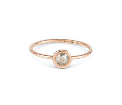 Luxe Petites Rose-Cut Diamond Stacking Ring