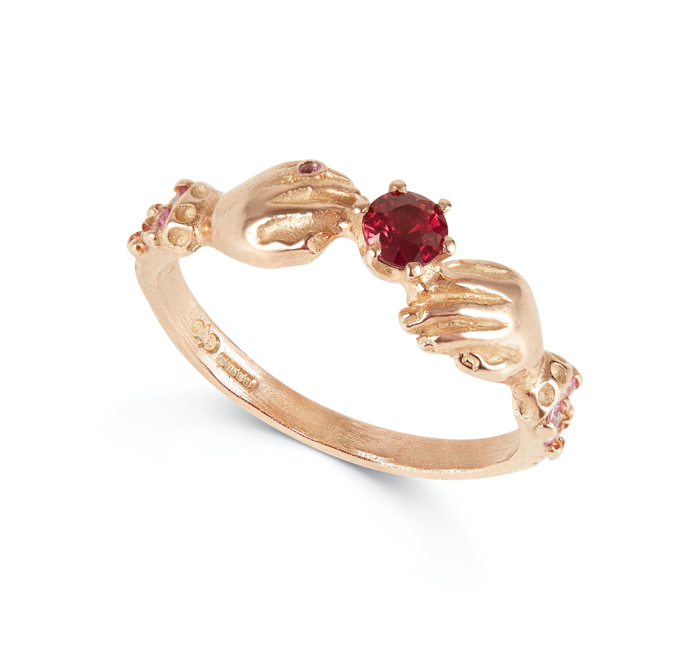 Promise Ring with Ruby and Pink Sapphires