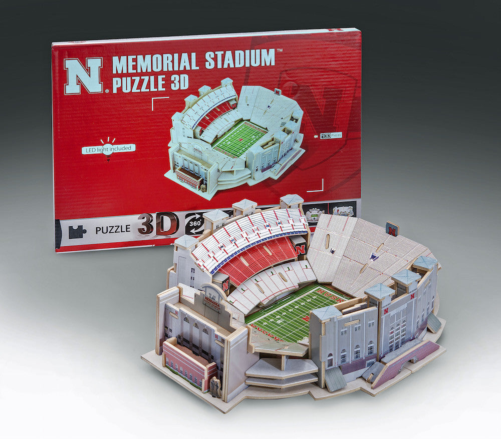 Nebraska Memorial Stadium 3D Puzzle with LED Lights