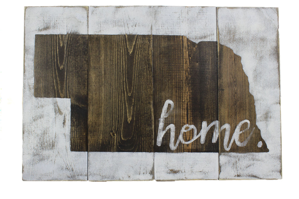 "Handcrafted Rustic Nebraska ""Home"" Sign"
